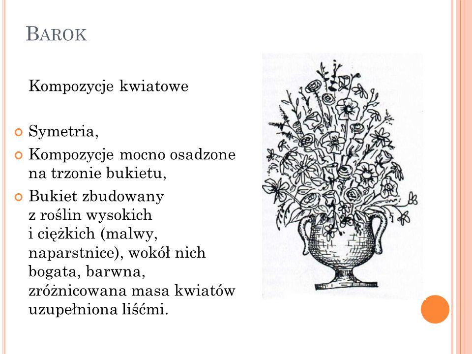 Barok Kompozycje kwiatowe Symetria,