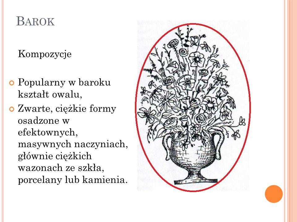Barok Kompozycje Popularny w baroku kształt owalu,