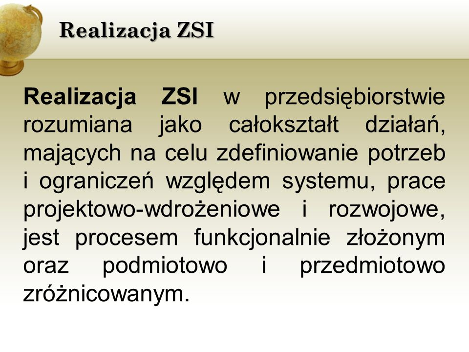 Realizacja ZSI