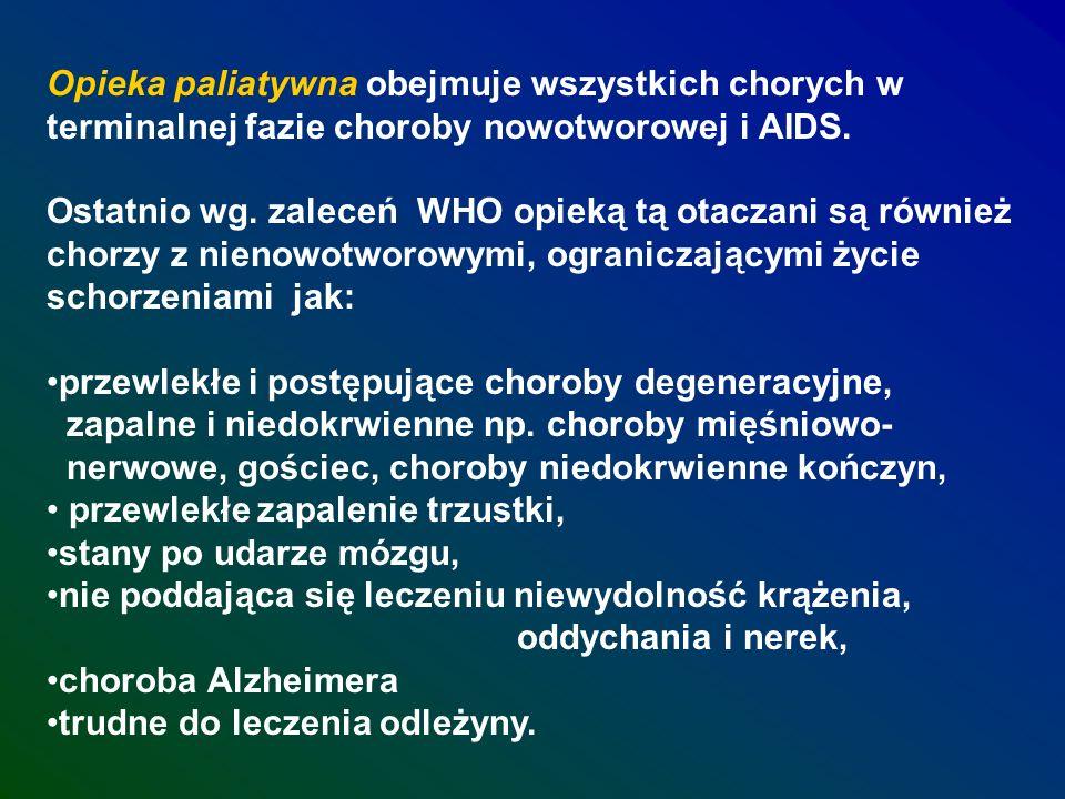 Opieka paliatywna obejmuje wszystkich chorych w