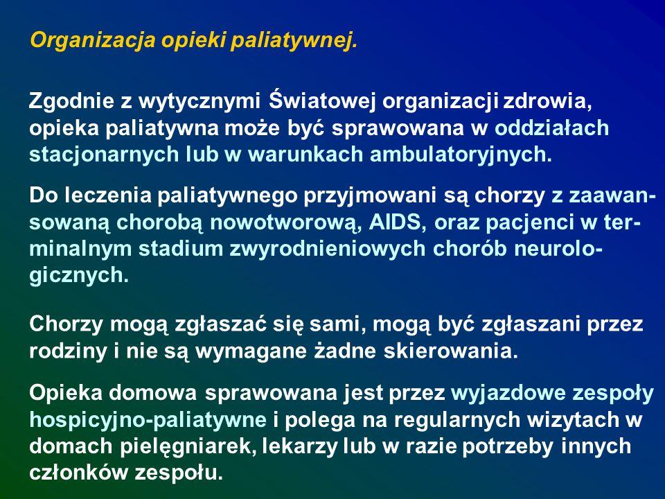 Organizacja opieki paliatywnej.