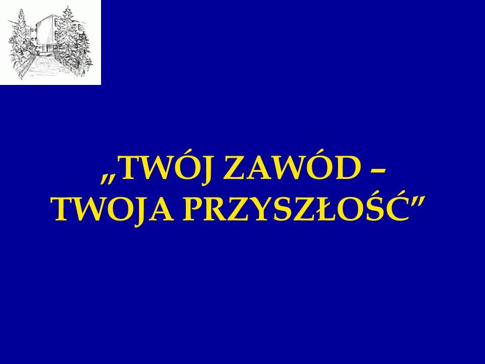 """""""TWÓJ ZAWÓD – TWOJA PRZYSZŁOŚĆ"""