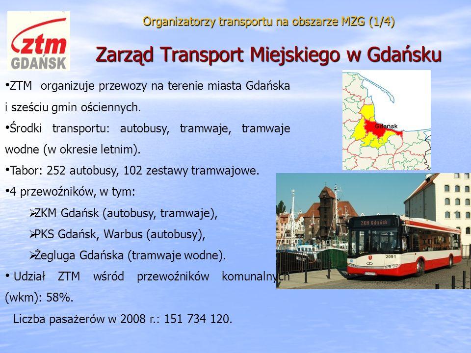 Tabor: 252 autobusy, 102 zestawy tramwajowe. 4 przewoźników, w tym: