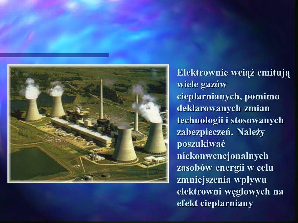 Elektrownie wciąż emitują wiele gazów cieplarnianych, pomimo deklarowanych zmian technologii i stosowanych zabezpieczeń.