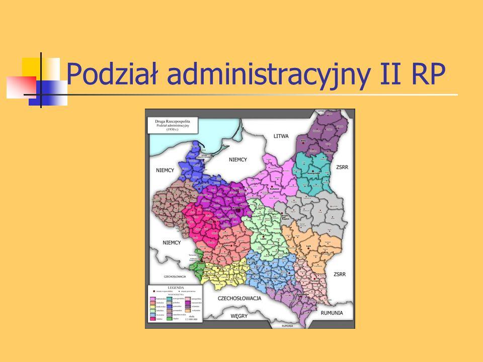 Podział administracyjny II RP
