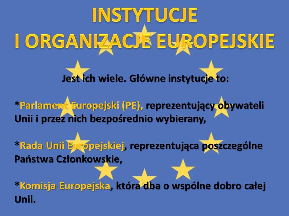 INSTYTUCJE I ORGANIZACJE EUROPEJSKIE