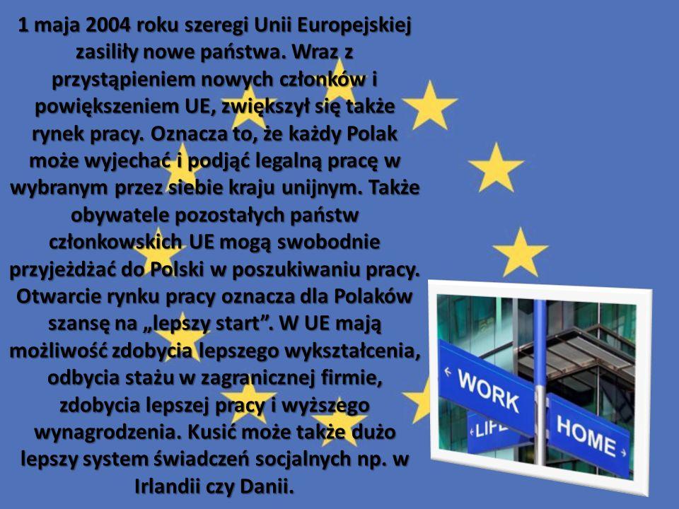 1 maja 2004 roku szeregi Unii Europejskiej zasiliły nowe państwa