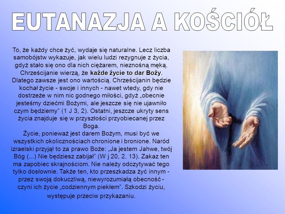 EUTANAZJA A KOŚCIÓŁ