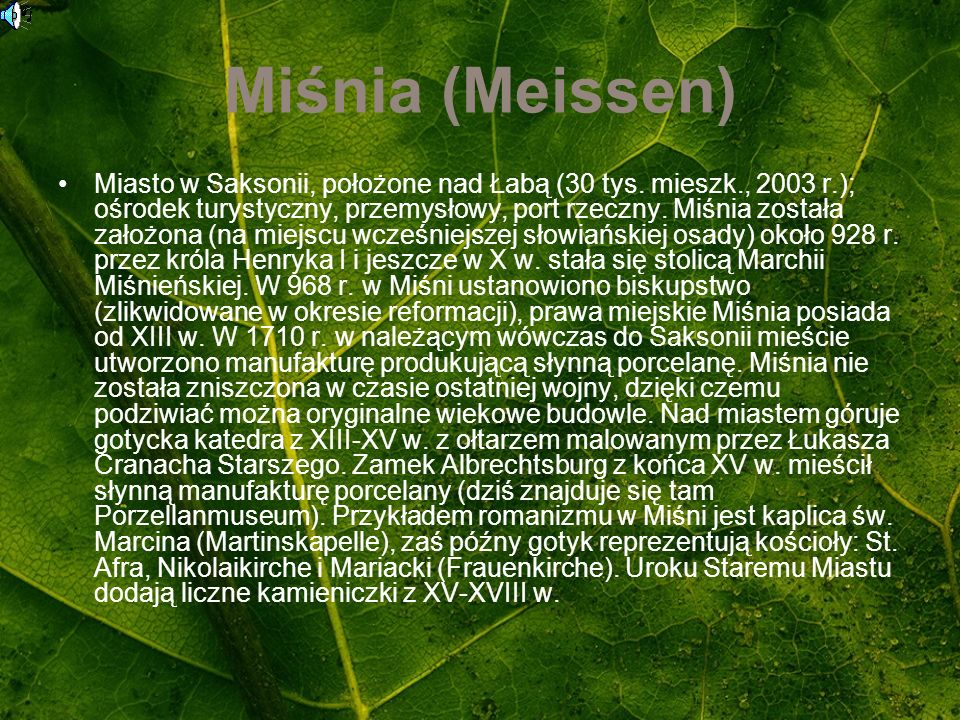 Miśnia (Meissen)