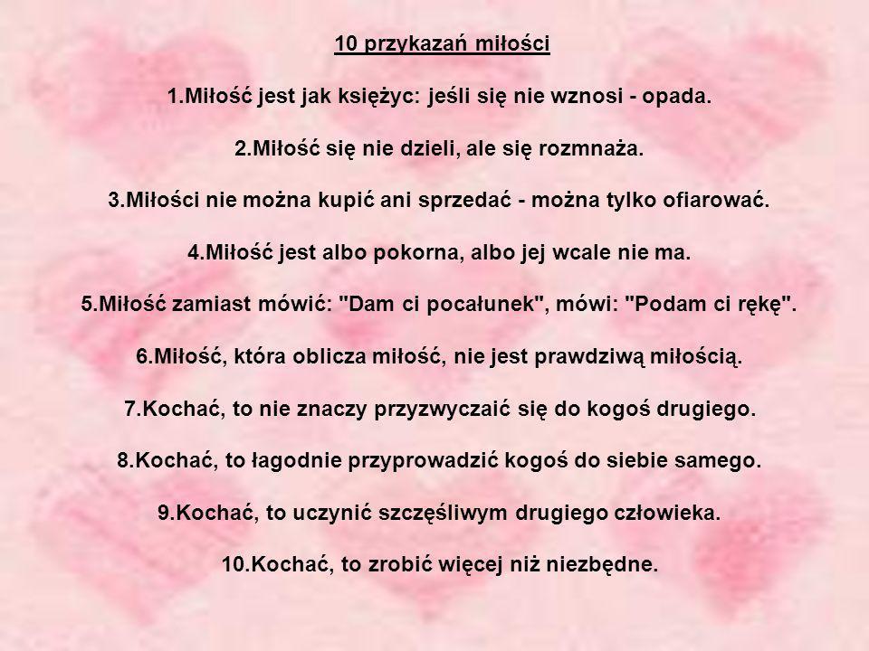 10 przykazań miłości