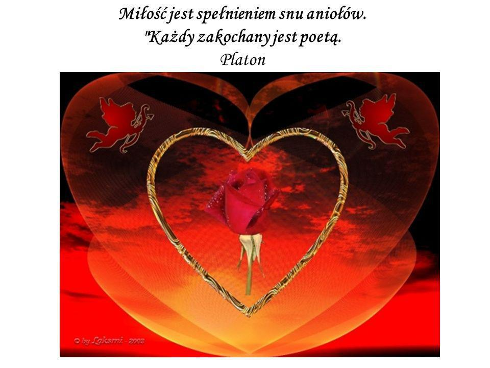 Miłość jest spełnieniem snu aniołów. Każdy zakochany jest poetą.