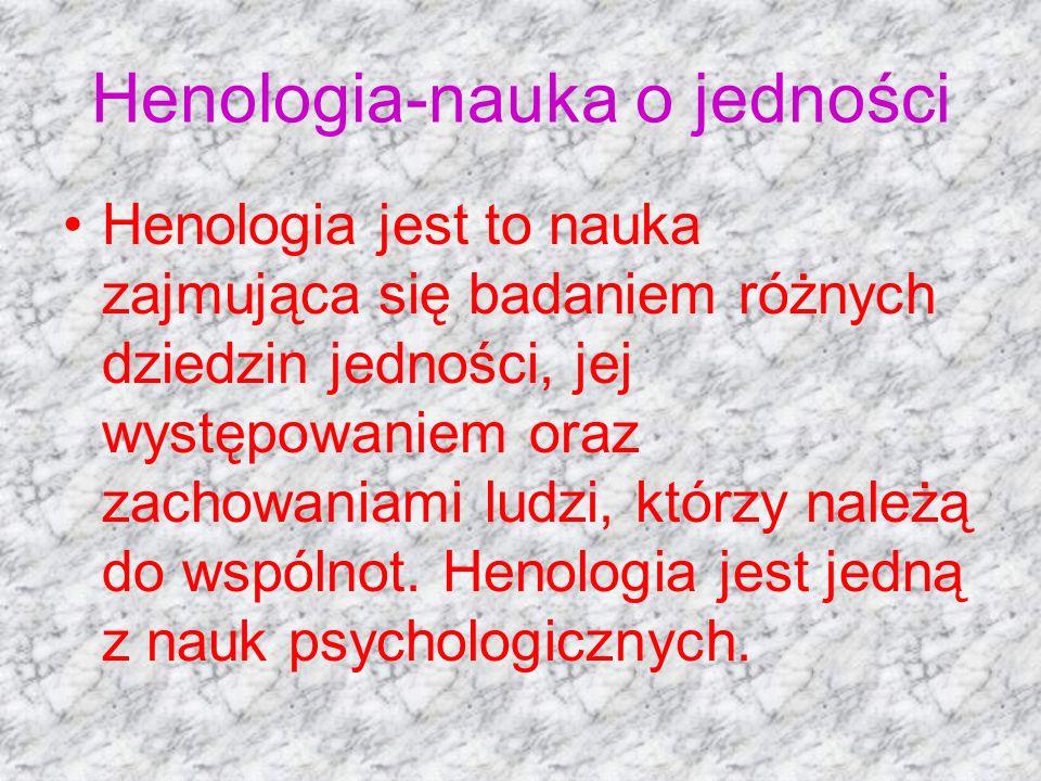 Henologia-nauka o jedności