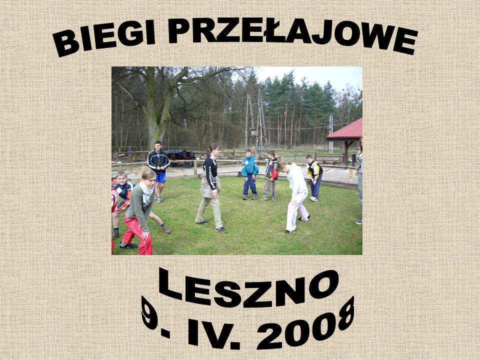 BIEGI PRZEŁAJOWE LESZNO 9. IV. 2008
