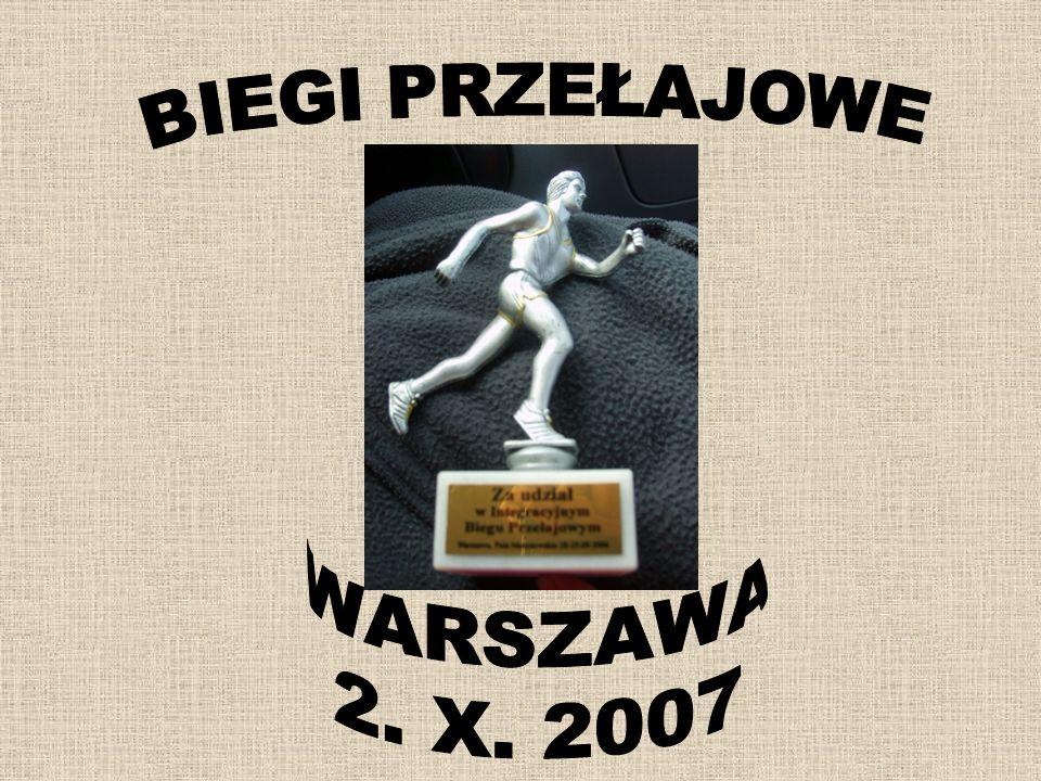 BIEGI PRZEŁAJOWE WARSZAWA 2. X. 2007