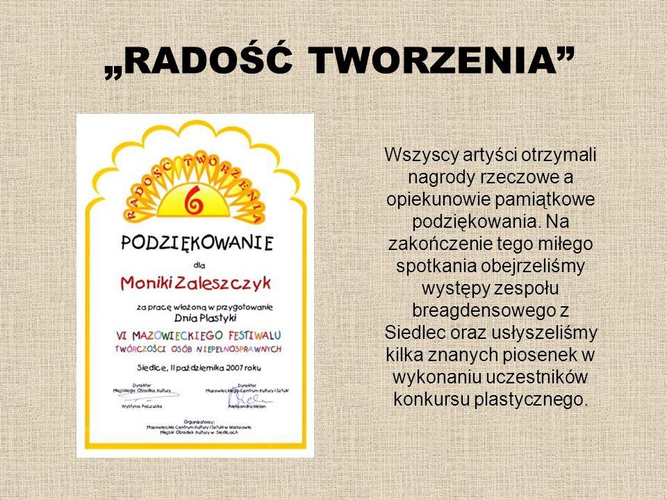 """""""RADOŚĆ TWORZENIA"""