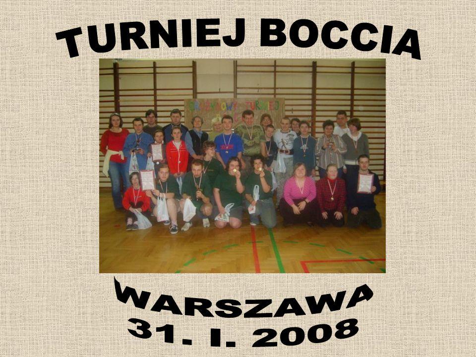 TURNIEJ BOCCIA WARSZAWA 31. I. 2008
