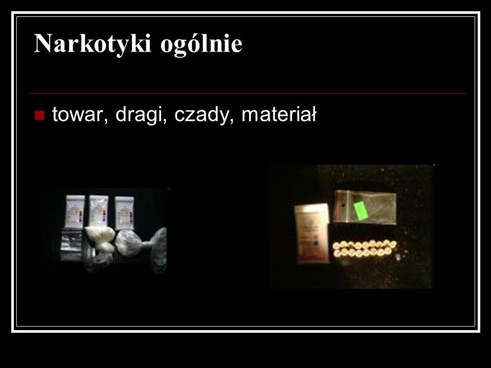 Narkotyki ogólnie towar, dragi, czady, materiał