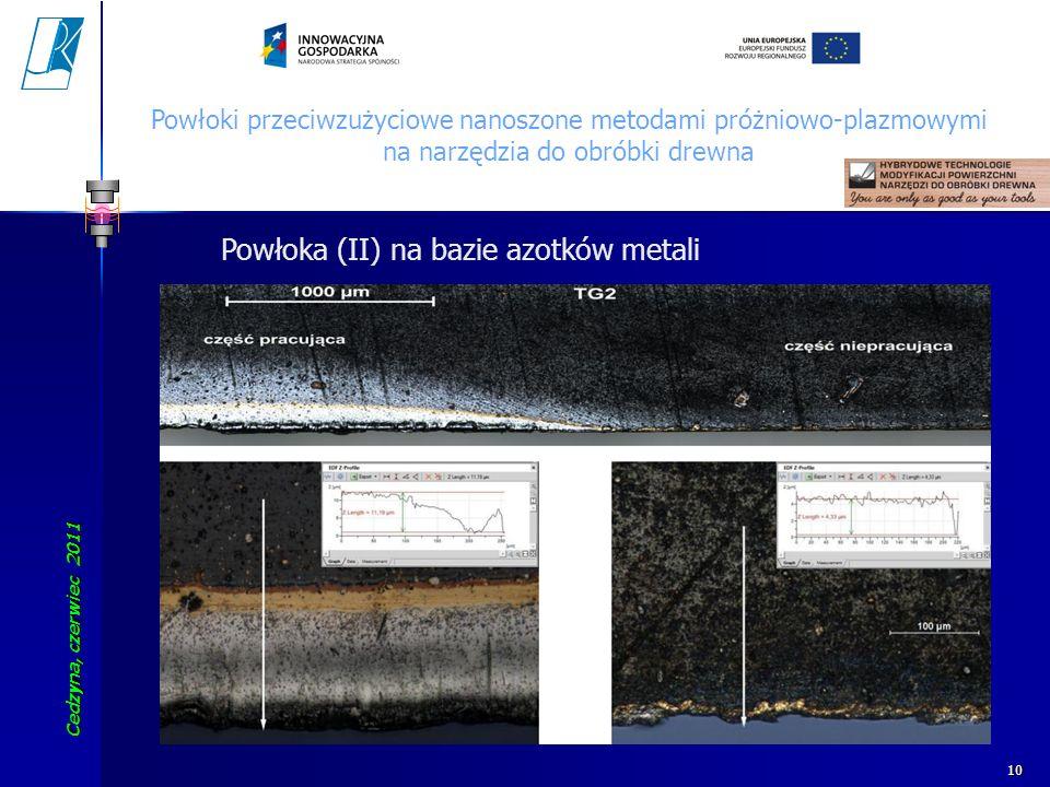Powłoka (II) na bazie azotków metali