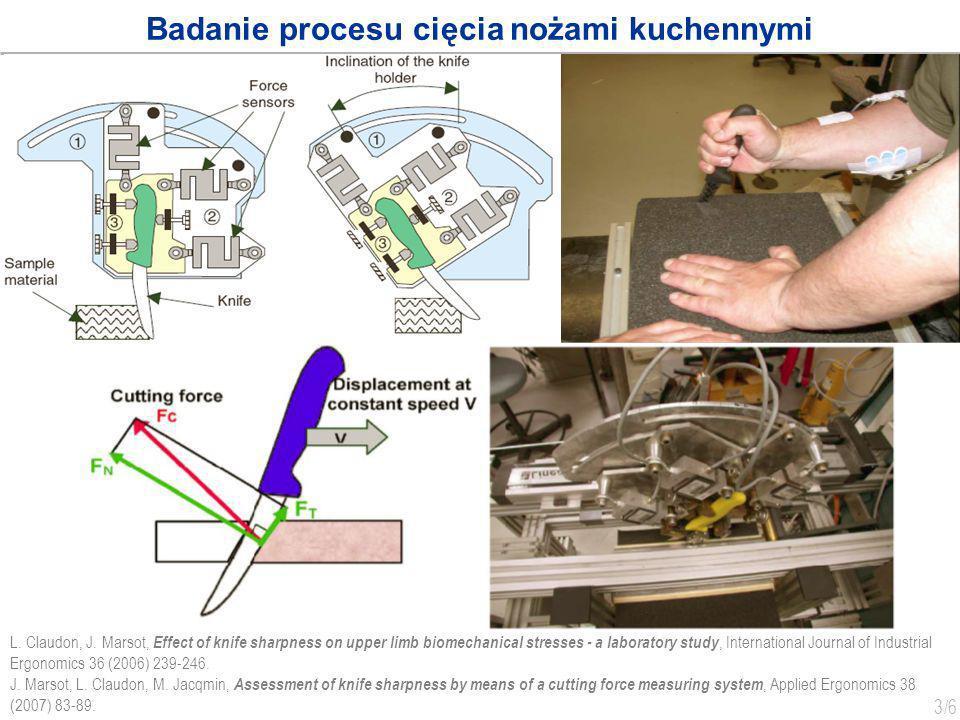 Badanie procesu cięcia nożami kuchennymi
