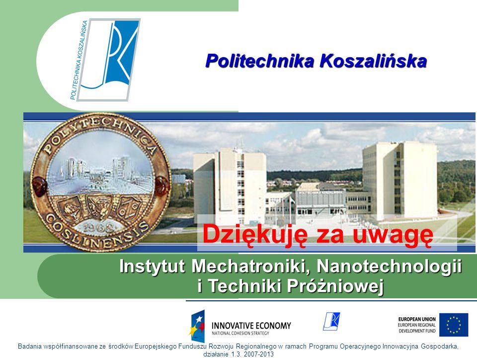Dziękuję za uwagę Politechnika Koszalińska