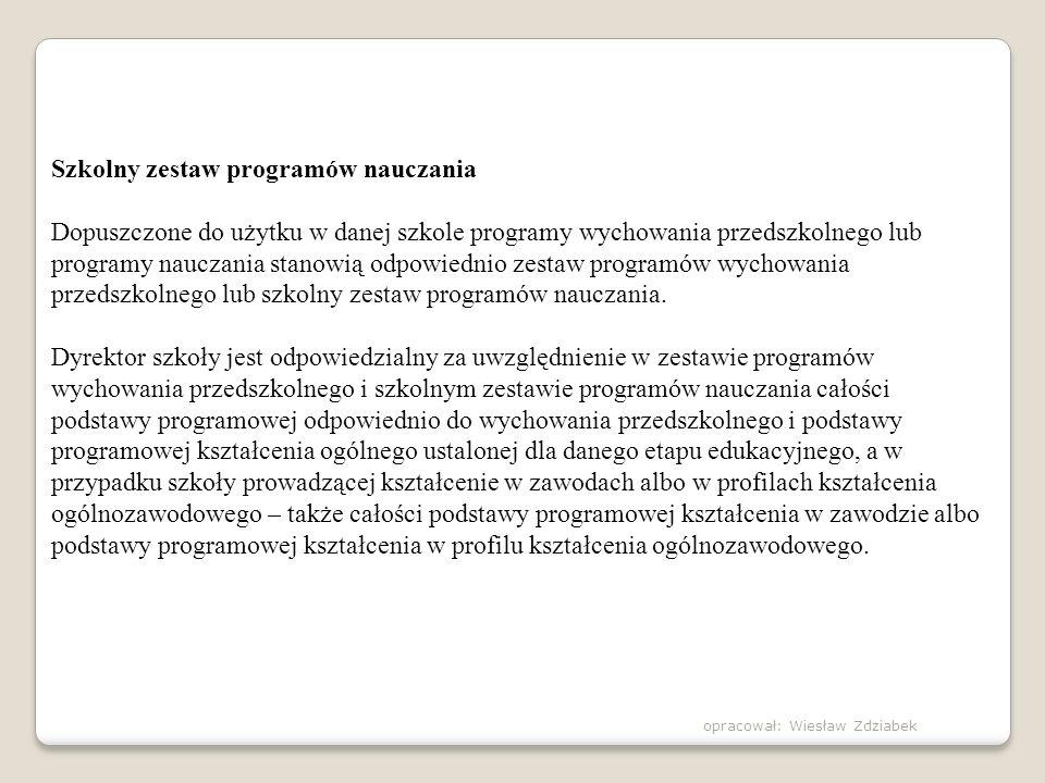 Szkolny zestaw programów nauczania