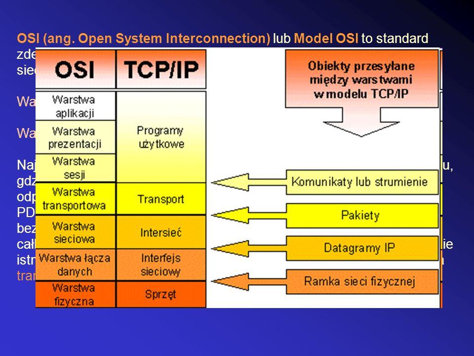 OSI (ang. Open System Interconnection) lub Model OSI to standard zdefiniowany przez ISO oraz ITU-T, opisujący strukturę komunikacji sieciowej.