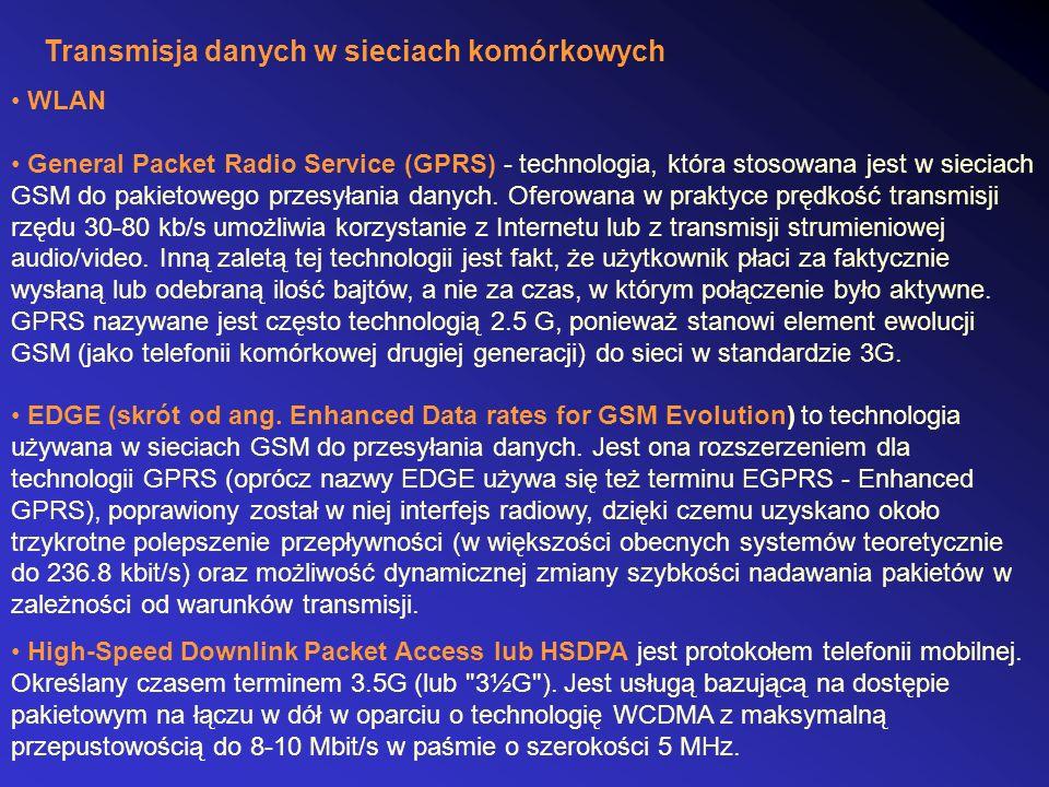 Transmisja danych w sieciach komórkowych