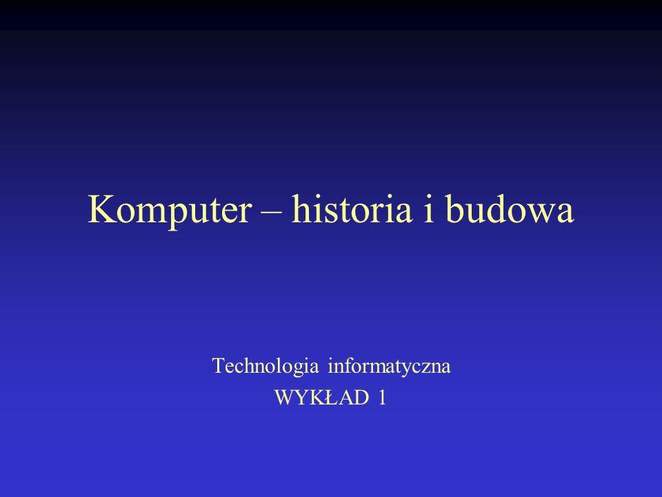 Komputer – historia i budowa