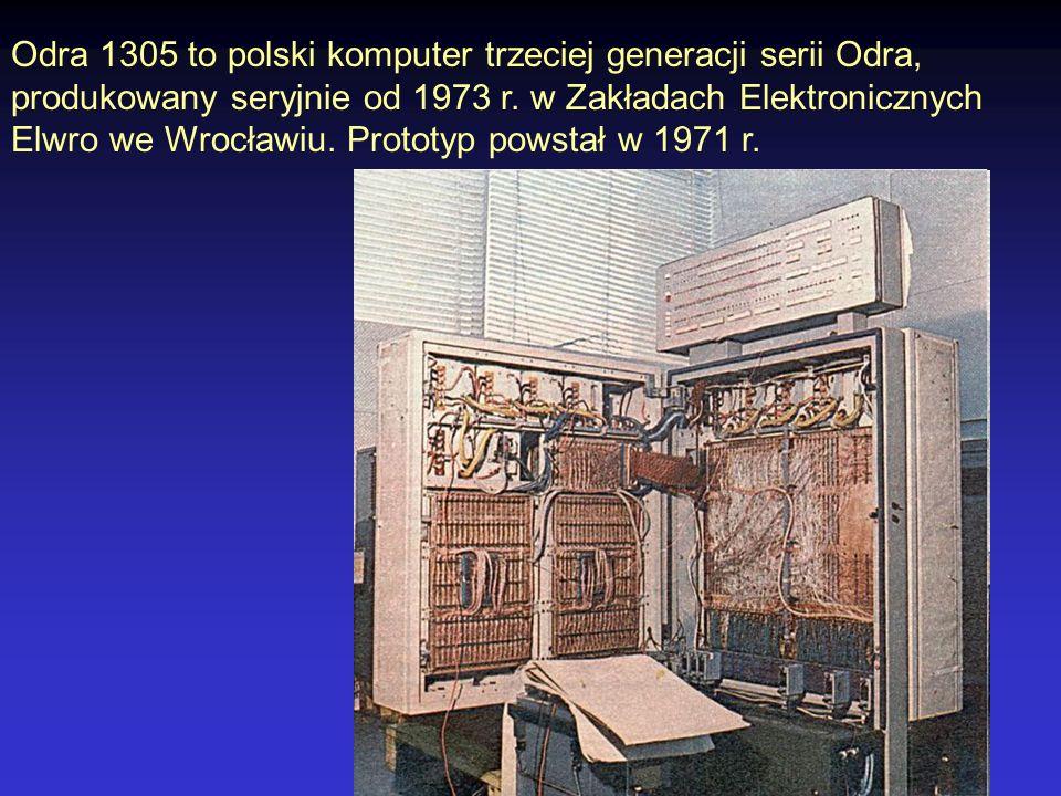 Odra 1305 to polski komputer trzeciej generacji serii Odra,