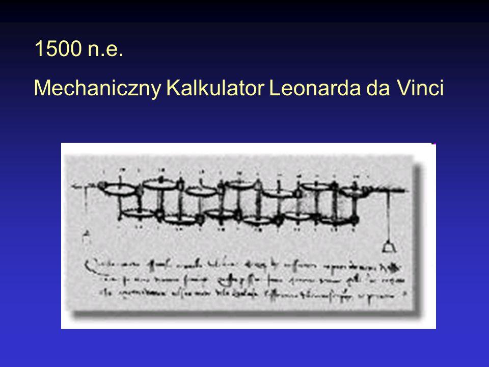 1500 n.e. Mechaniczny Kalkulator Leonarda da Vinci