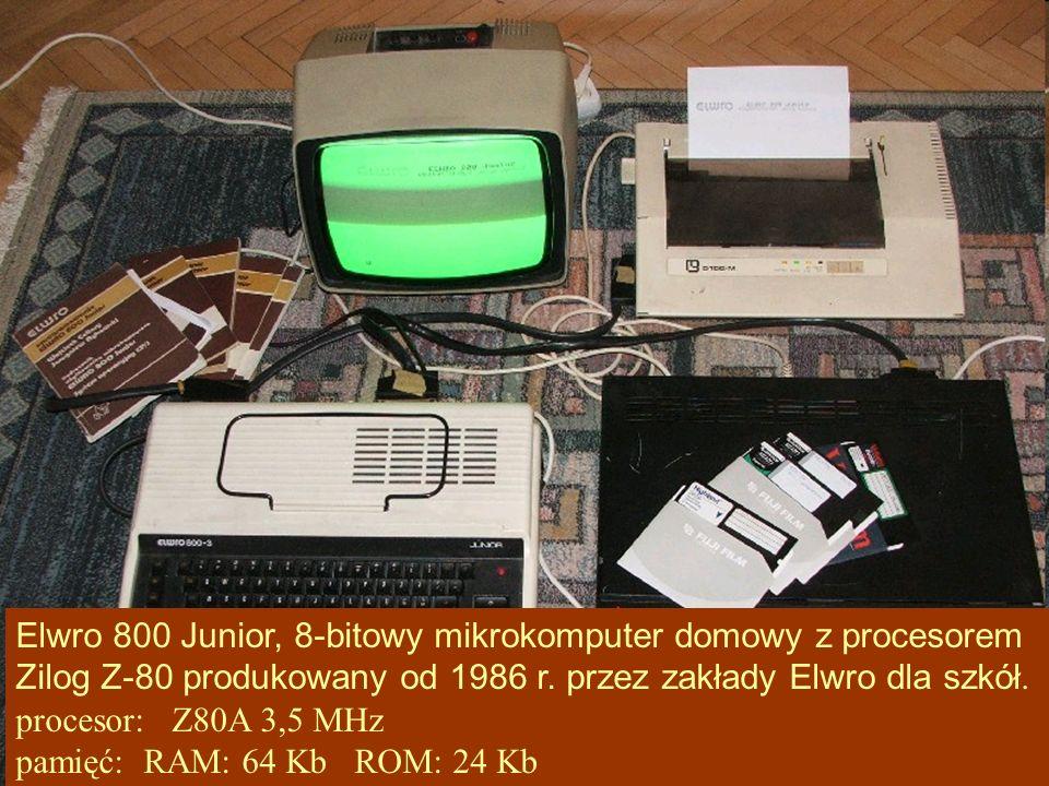 Elwro 800 Junior, 8-bitowy mikrokomputer domowy z procesorem