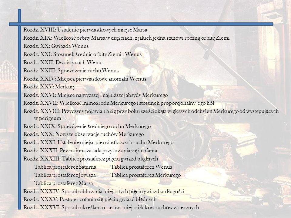Rozdz. XVIII: Ustalenie pierwiastkowych miejsc Marsa
