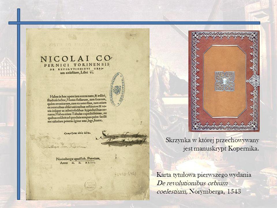Skrzynka w której przechowywany jest manuskrypt Kopernika.