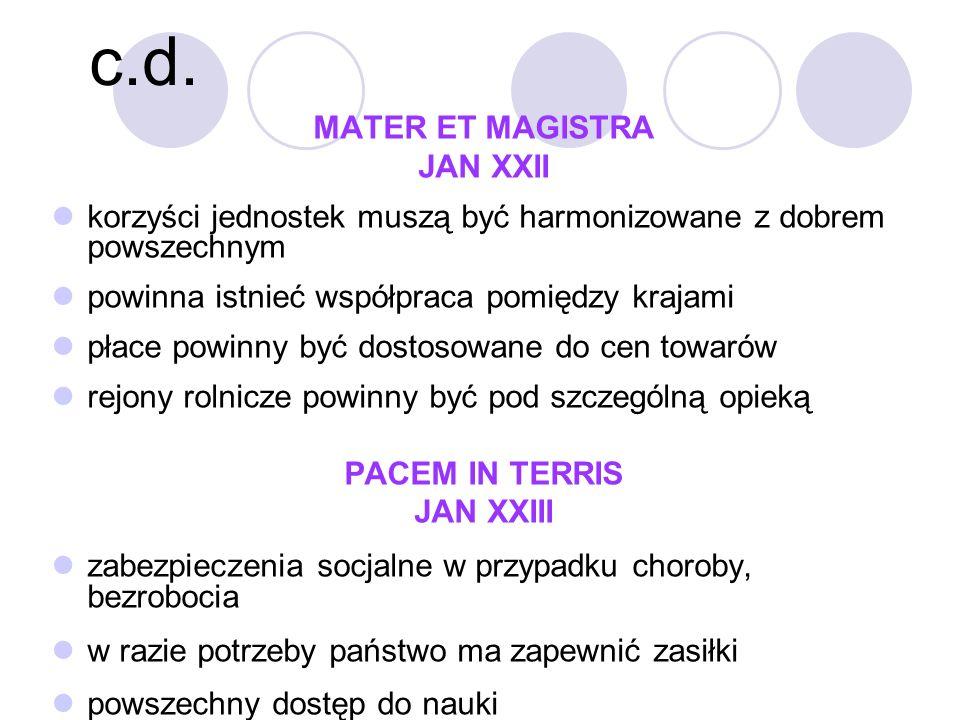 c.d. MATER ET MAGISTRA JAN XXII