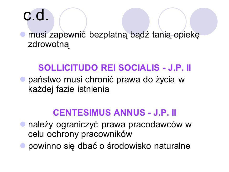 SOLLICITUDO REI SOCIALIS - J.P. II CENTESIMUS ANNUS - J.P. II