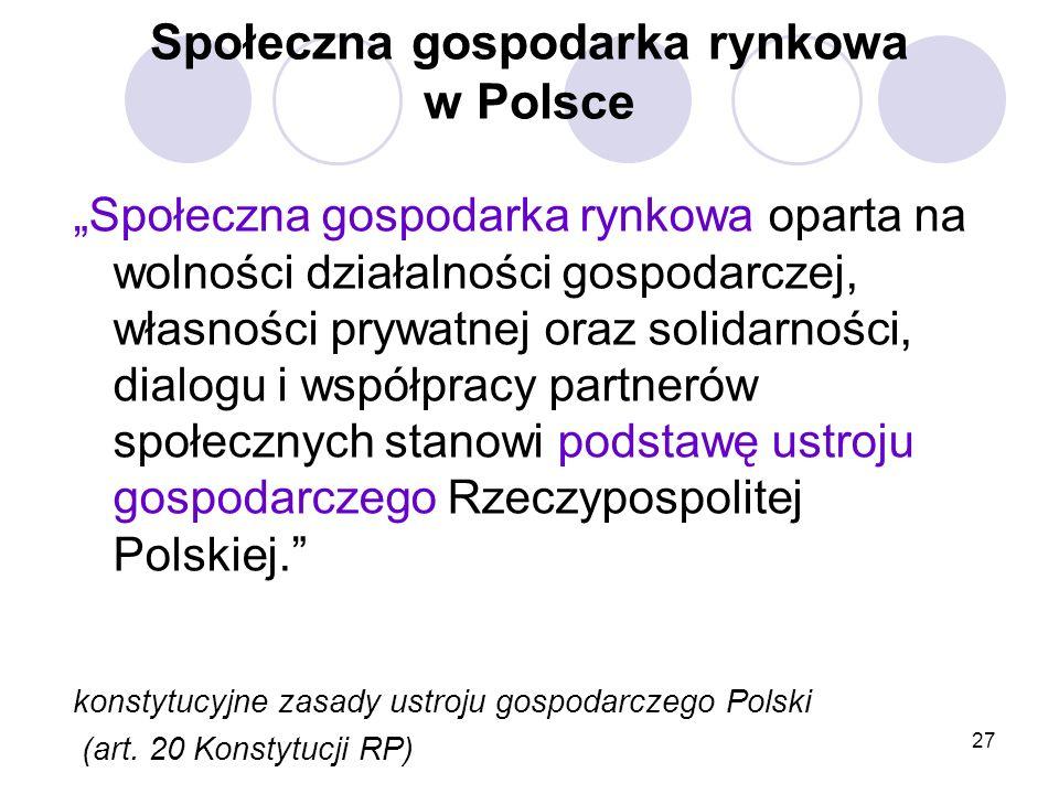 Społeczna gospodarka rynkowa w Polsce