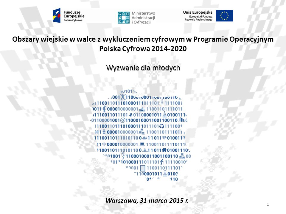 Obszary wiejskie w walce z wykluczeniem cyfrowym w Programie Operacyjnym