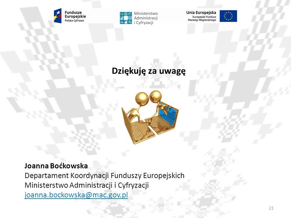 Dziękuję za uwagę Joanna Boćkowska
