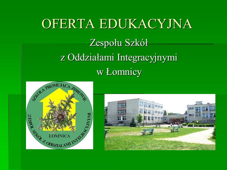 Zespołu Szkół z Oddziałami Integracyjnymi w Łomnicy