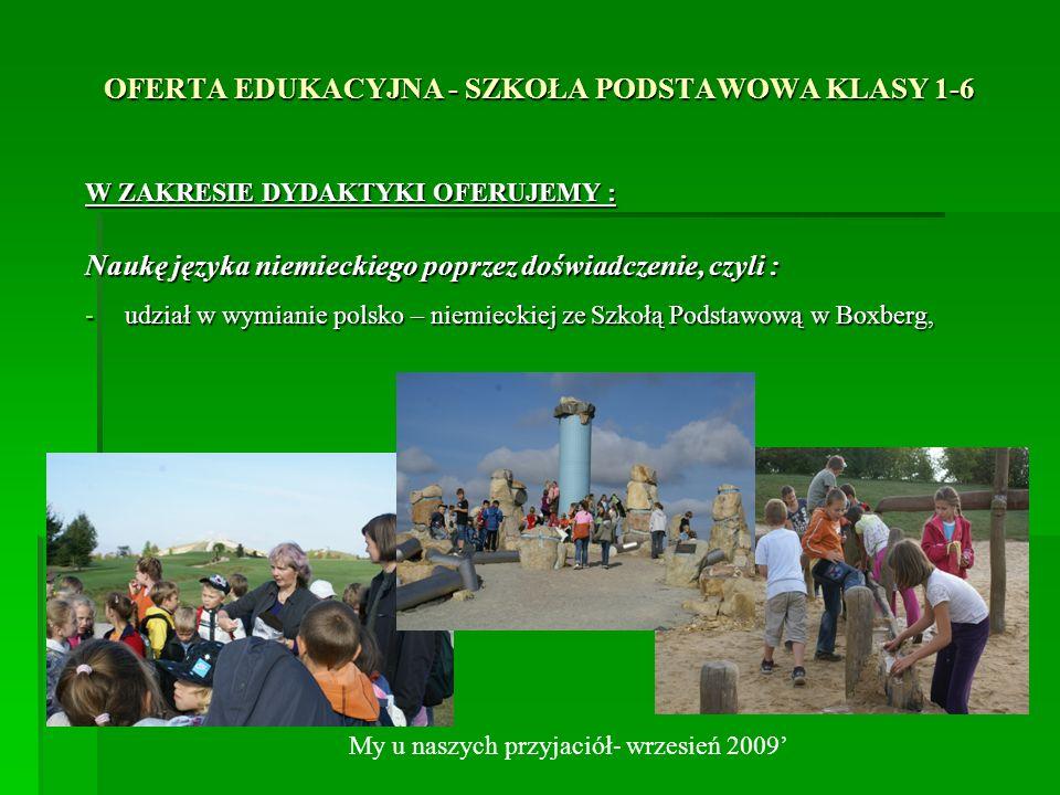 OFERTA EDUKACYJNA - SZKOŁA PODSTAWOWA KLASY 1-6