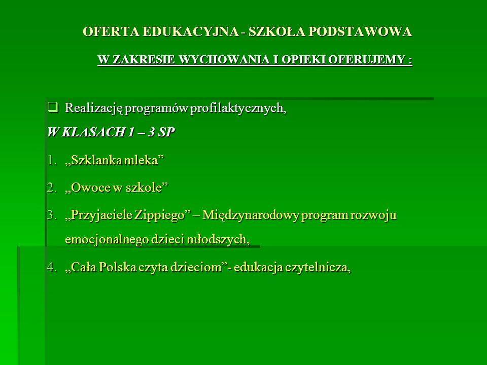 OFERTA EDUKACYJNA - SZKOŁA PODSTAWOWA