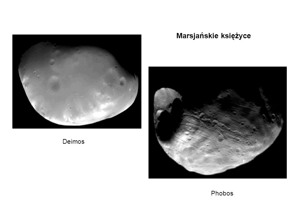Marsjańskie księżyce Deimos Phobos