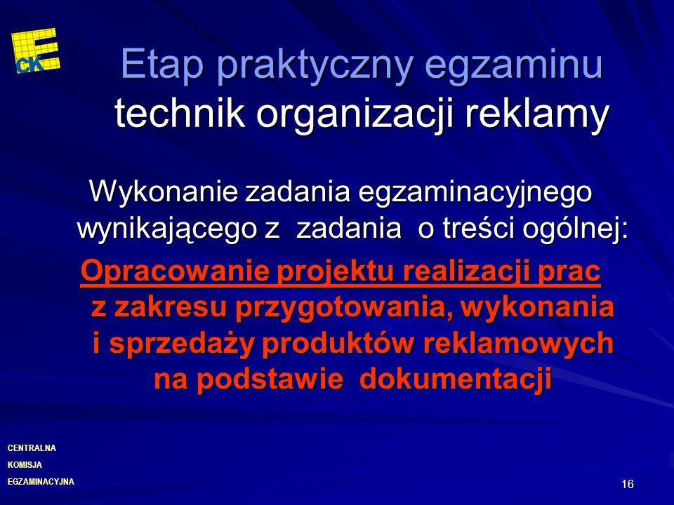 Etap praktyczny egzaminu technik organizacji reklamy