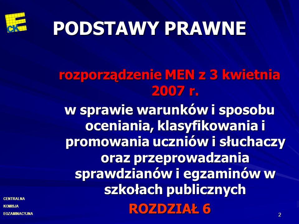 rozporządzenie MEN z 3 kwietnia 2007 r.