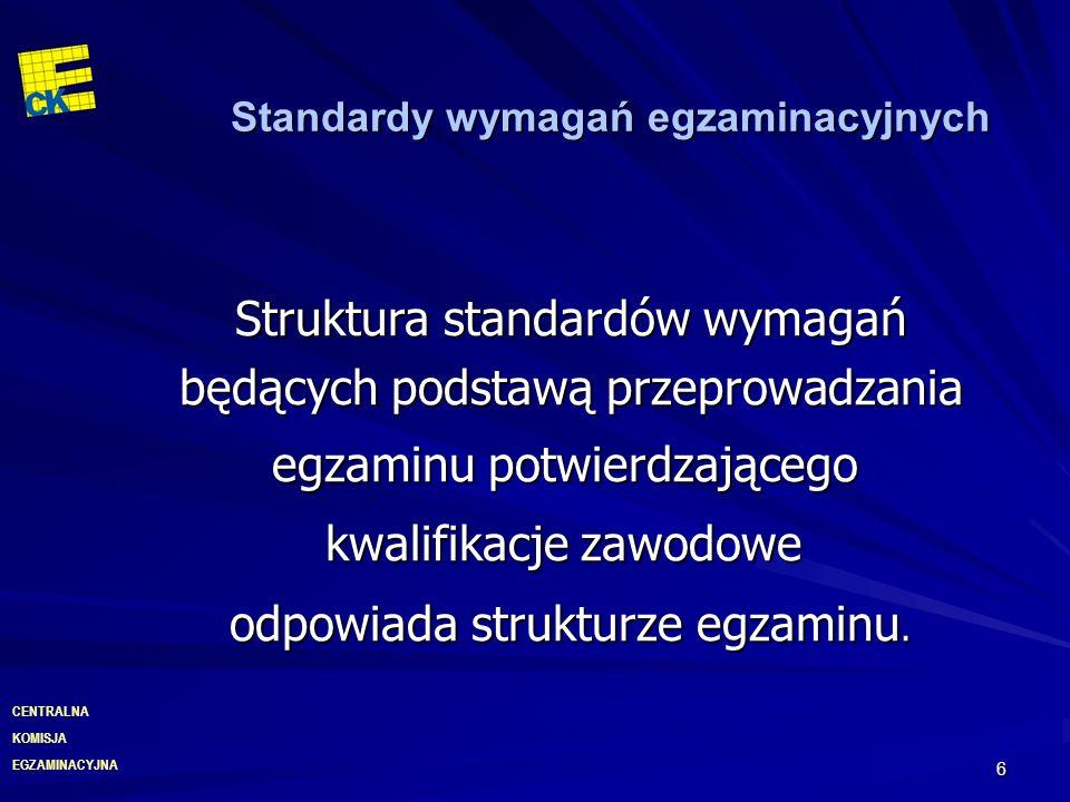 Standardy wymagań egzaminacyjnych
