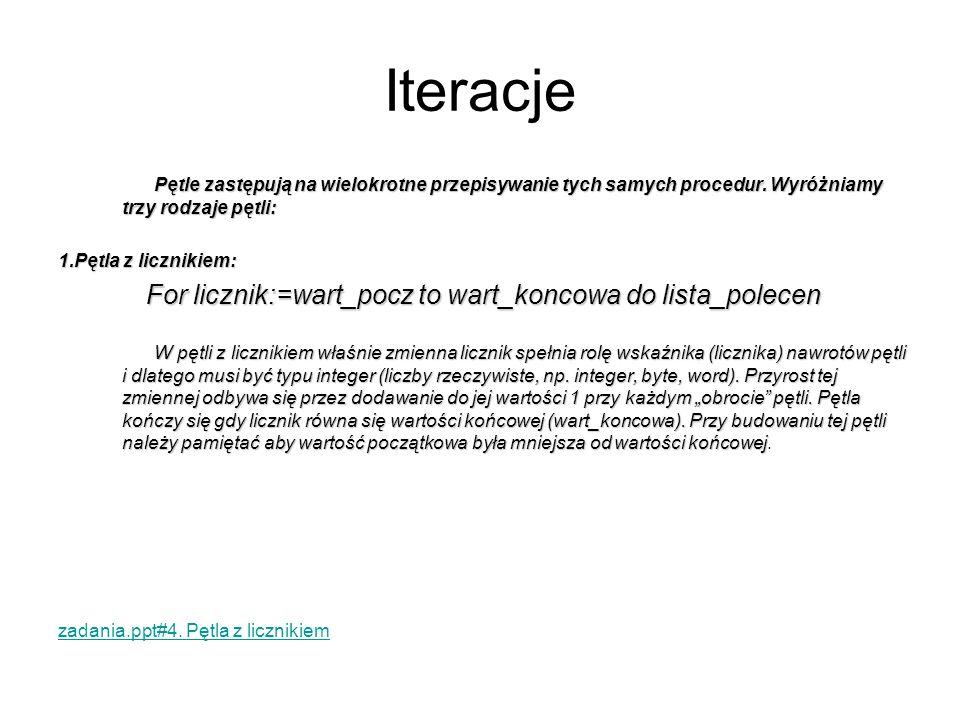 For licznik:=wart_pocz to wart_koncowa do lista_polecen