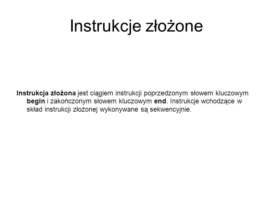 Instrukcje złożone