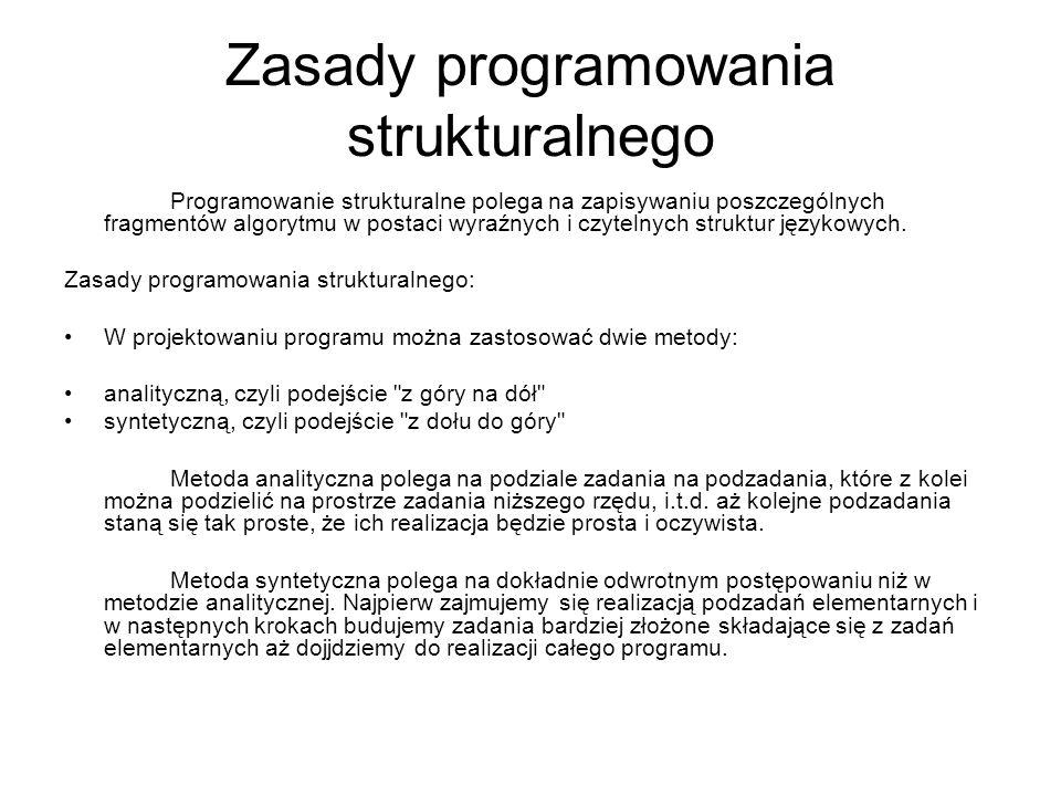 Zasady programowania strukturalnego