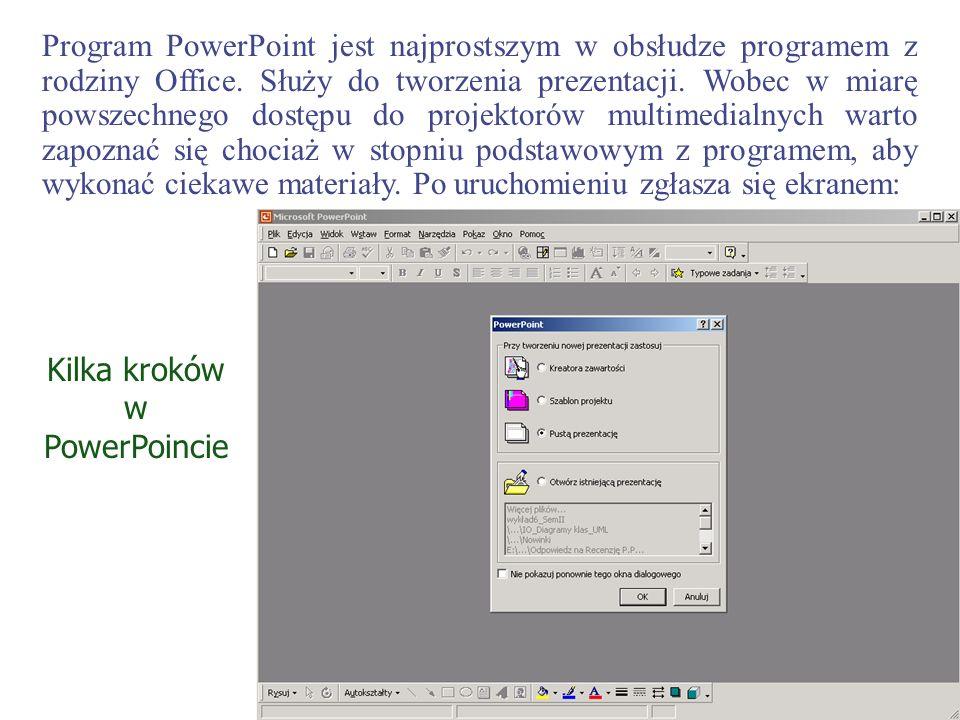 Kilka kroków w PowerPoincie