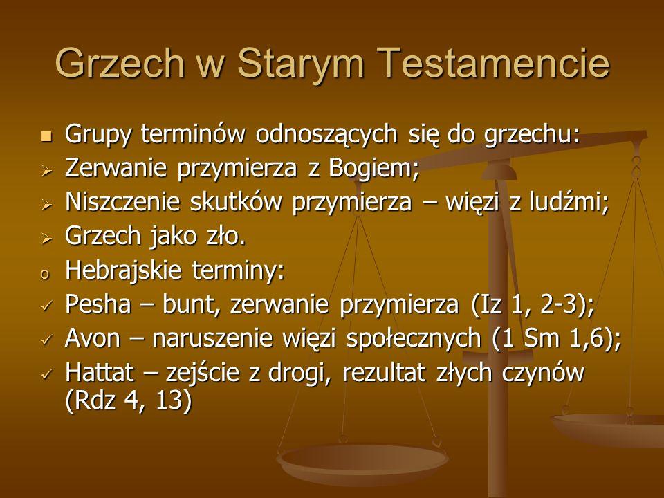 Grzech w Starym Testamencie